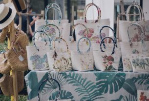 Handcrafted items displayed at the weekend bazaar
