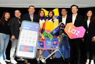 Serena Tang, Director of Partnerships and Business Development, TNG Digital Sdn Bhd; Wilson Soon, CFO of TNG Digital Sdn Bhd; Ignatius Ong, CEO of TNG Digital Sdn Bhd alongside Kevin Lee, CBO of Lazada Malaysia; Leo Chow, CEO of Lazada Malaysia and Diana Boo, CMO of Lazada Malaysia.