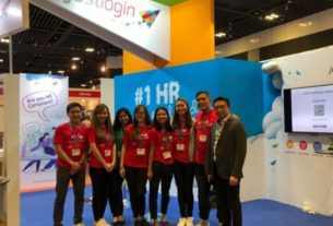 JustLogin team exhibiting at the HR Festival Asia 2019 at Suntec Singapore