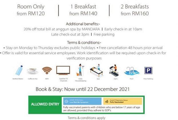 Gratitude Offers for Essential Service Employees @ Hotel Maya Kuala Lumpur v2